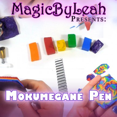 mokume gane polymer clay tutorial video by MagicByLeah