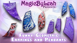 funky geometric polymer clay beginner jewelry tutorial video