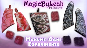 polymer clay mokume gane experiments tutorial video magicbyleah