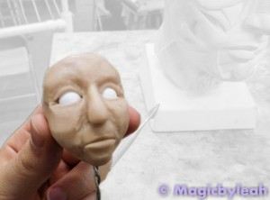 Polymer Clay Practice Face for Class 6