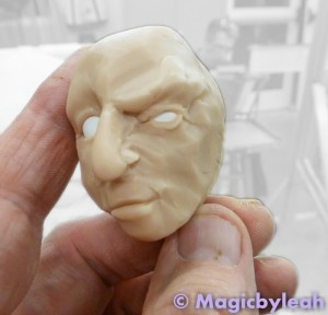 Polymer Clay Practice Face for Class 8