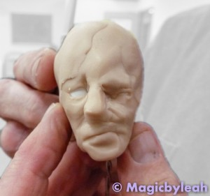Polymer Clay Practice Face for Class 9