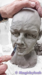 Sculpting an Amateur Terracotta Face 10