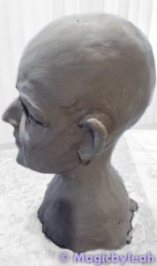 Sculpting an Amateur Terracotta Face 12
