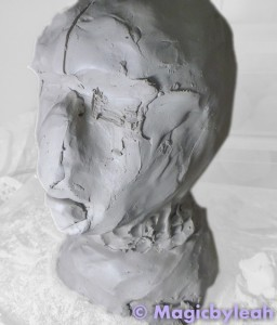 Sculpting an Amateur Terracotta Face 3