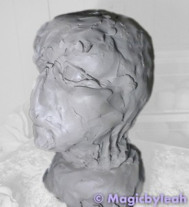 Sculpting an Amateur Terracotta Face 5