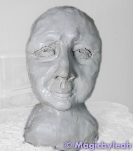 Sculpting an Amateur Terracotta Face 6
