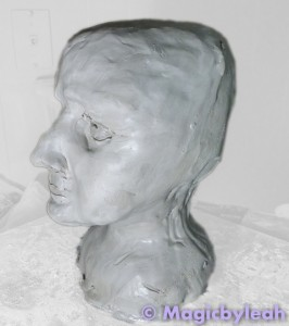 Sculpting an Amateur Terracotta Face 7