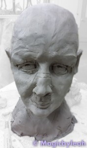 Sculpting an Amateur Terracotta Face 8