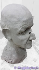 Sculpting an Amateur Terracotta Face 9