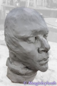 Terracotta Practice Face Sculpture 1