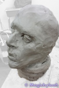Terracotta Practice Face Sculpture 2