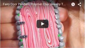Fairy Door Pendant Polymer Clay Jewelry Tutorial
