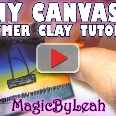Tiny Canvas Tree Swing in Sunset Polymer Clay Tutorial Video
