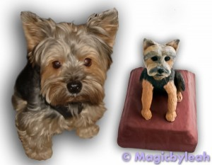 Baking and Painting the Yorkie Sculpture