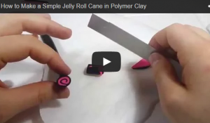 How To Make a Simple Jelly Roll Cane in Polymer Clay