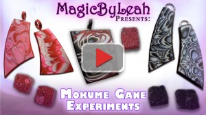 Experimenting with Mokume Gane Effects in Polymer Clay Video
